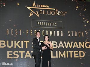 Bukit Sembawang clinches award for Best-Performing Stock at The Edge Billion Dollar Club 2019